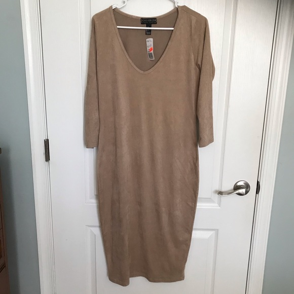 Forever 21 Dresses & Skirts - NWT Forever 21 Faux Suede Soft Dress large